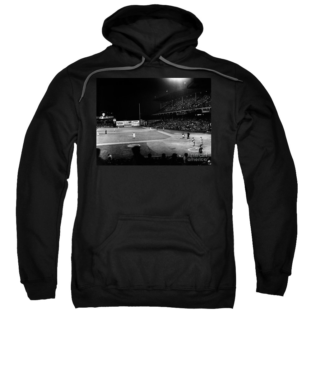 1957 Sweatshirt featuring the photograph Ebbets Field, 1957 by Granger