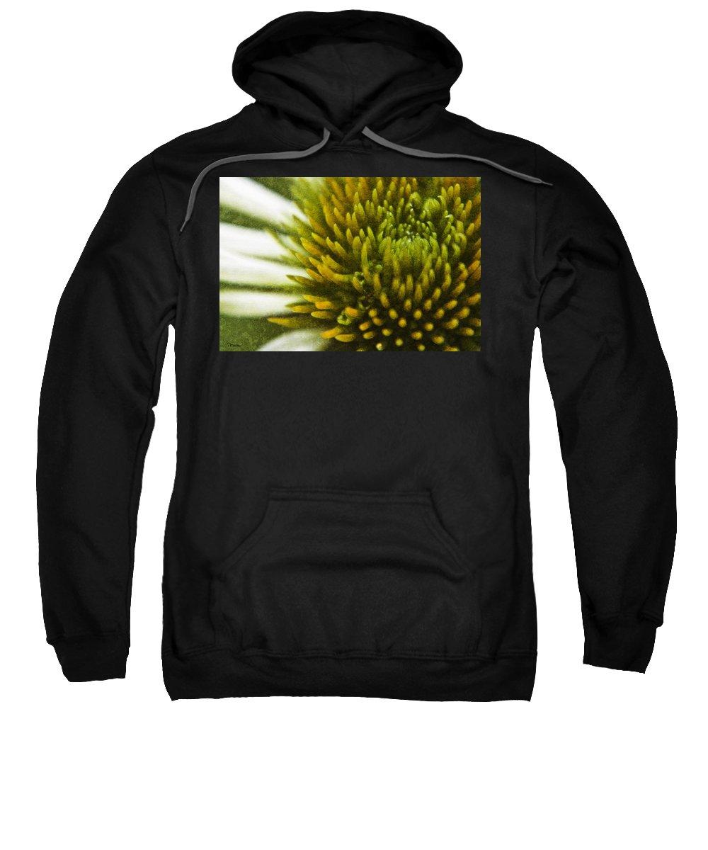 Echinacea Sweatshirt featuring the digital art Echinacea by Teresa Mucha