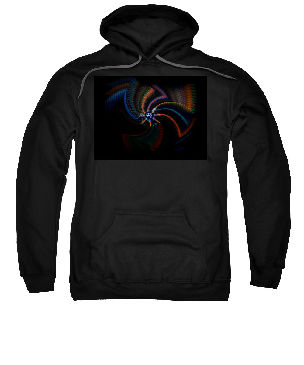 Chaos Sweatshirt featuring the painting Echoes by Charles Stuart