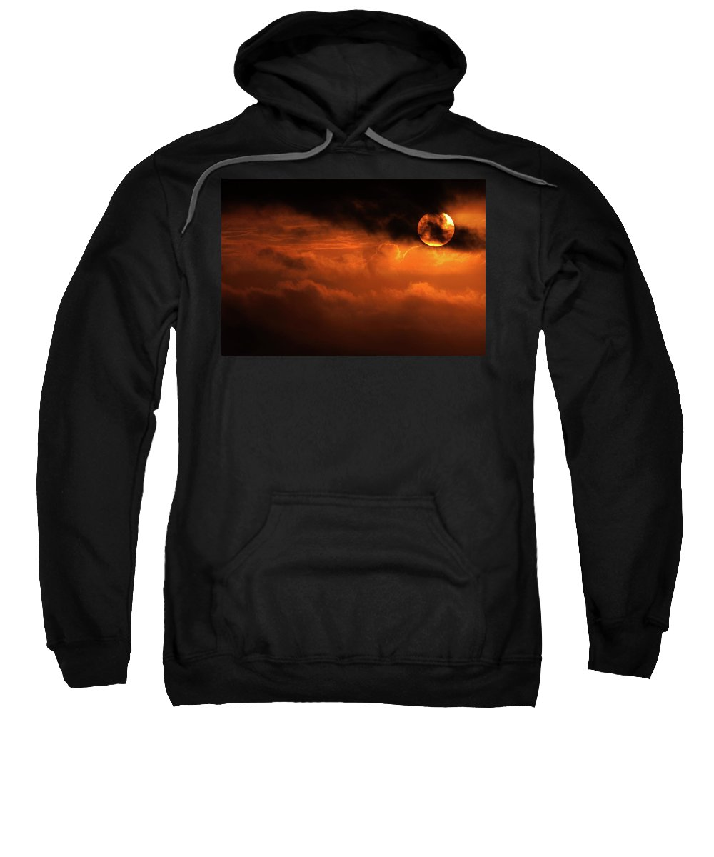 Sunset Sweatshirt featuring the photograph Eclipse by Andrew Paranavitana