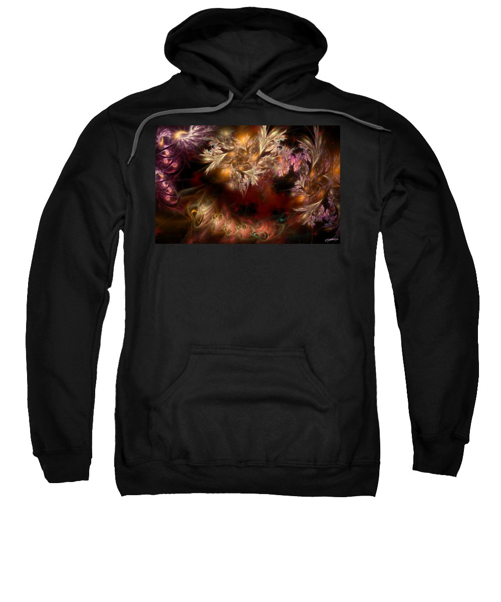 Abstract Sweatshirt featuring the digital art Ecological Hope by Casey Kotas