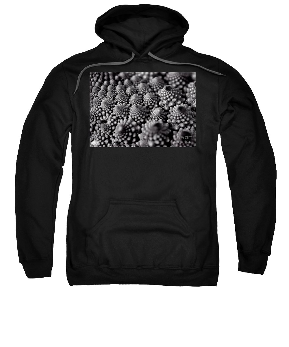 Black And White Sweatshirt featuring the photograph Edible Pearls Black And White by Karen Adams
