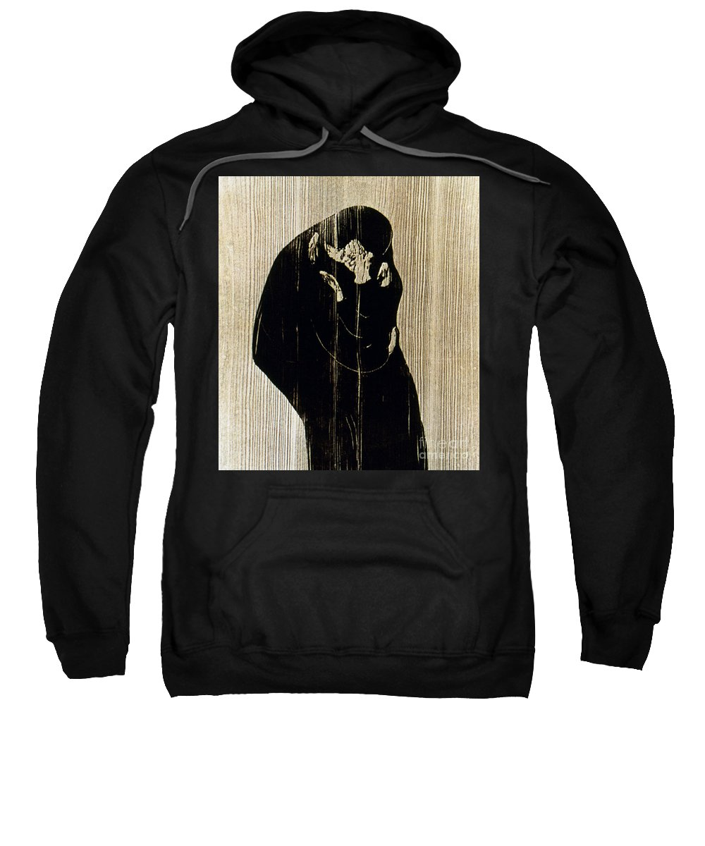 1897 Sweatshirt featuring the photograph Edvard Munch: The Kiss by Granger