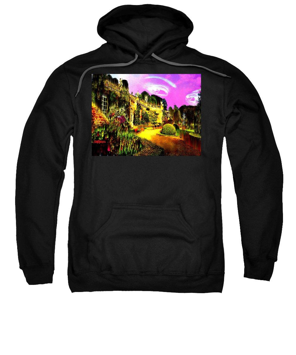 Mansion Sweatshirt featuring the digital art Eerie Estate by Seth Weaver