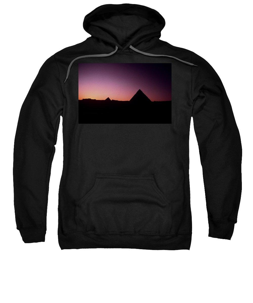 Egypt Sweatshirt featuring the photograph Egyptian Sunset by Gary Wonning