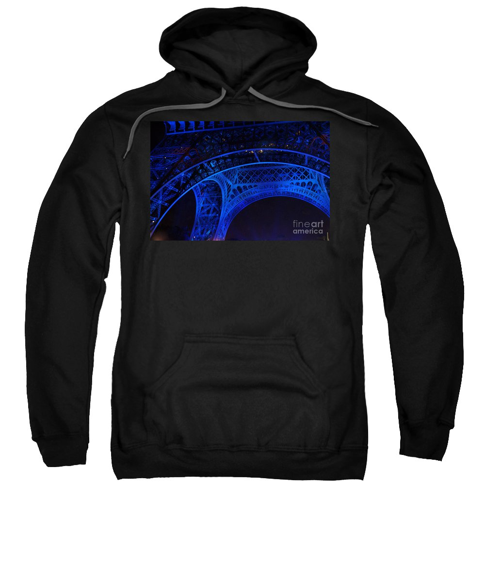 Eiffel Tower Sweatshirt featuring the photograph Eiffel Blue by Christine Jepsen