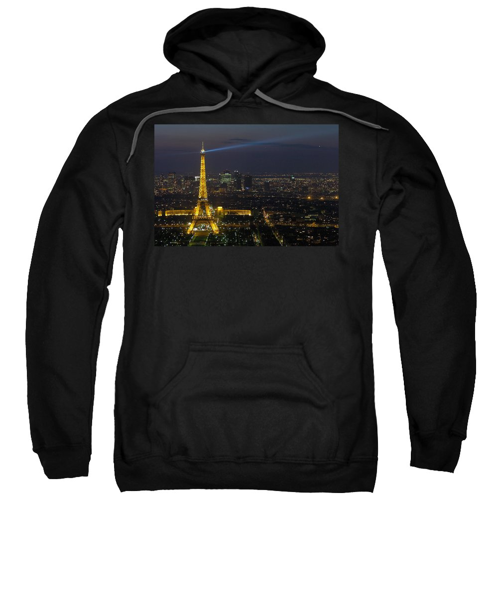 Eiffel Sweatshirt featuring the photograph Eiffel Tower At Night by Sebastian Musial