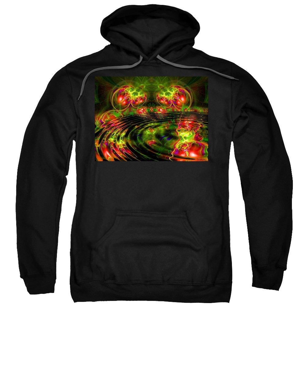 Green Sweatshirt featuring the digital art Einstein's Dream by Robert Orinski