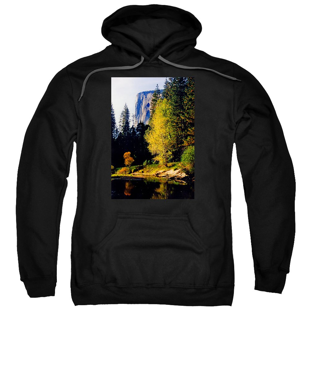 Yosemite Sweatshirt featuring the photograph El Capitan by Martin Massari