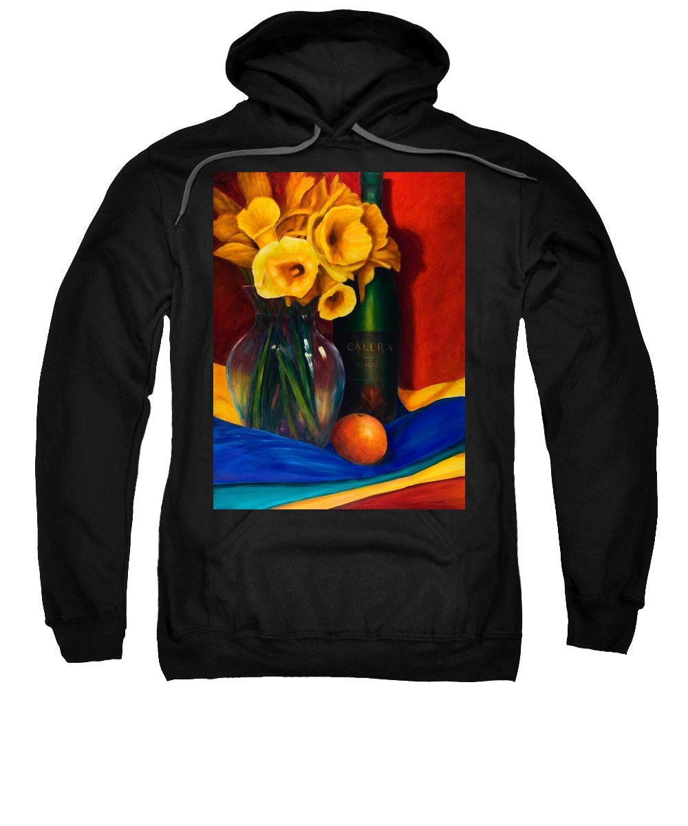 Red Sweatshirt featuring the painting El Nino by Shannon Grissom