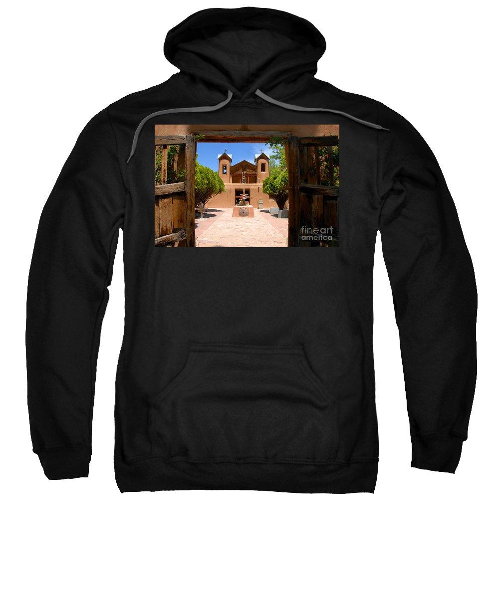 El Santuario De Chimayo Sweatshirt featuring the photograph El Santuario De Chimayo by David Lee Thompson