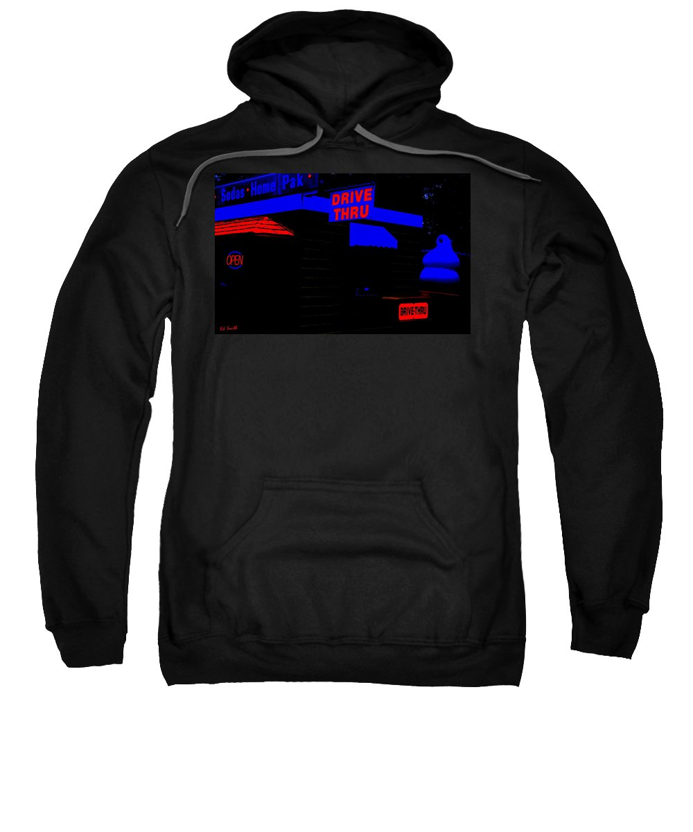 Electric Ice Cream Sweatshirt featuring the photograph Electric Ice Cream by Ed Smith