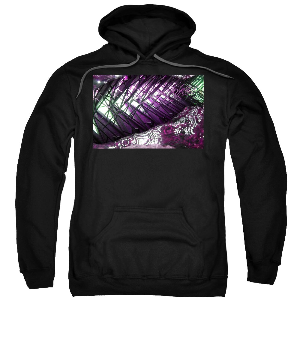Fish Sweatshirt featuring the photograph Electric Violet Fish by Anne Cameron Cutri