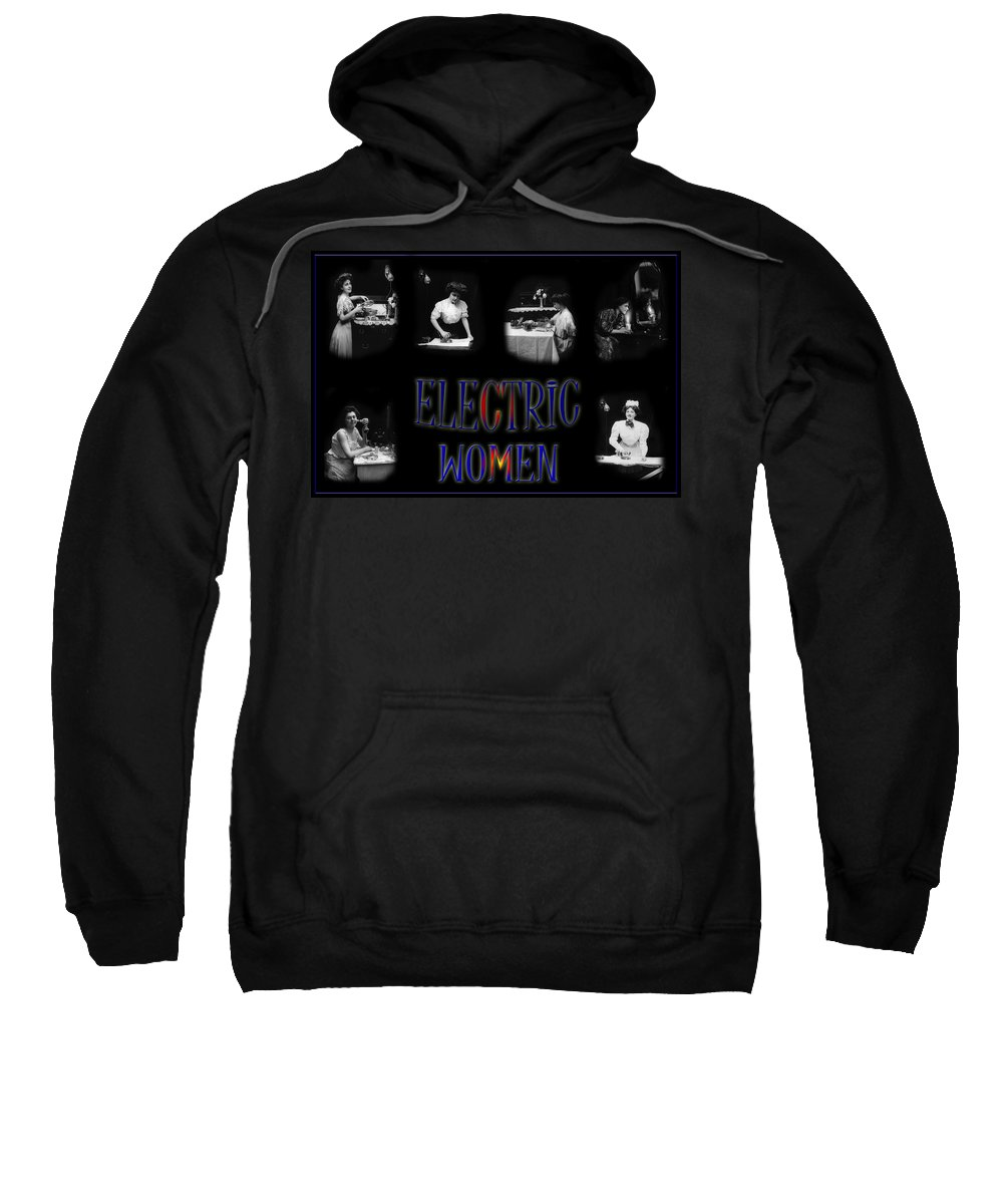 Electricity Sweatshirt featuring the photograph Electric Women by Andrew Fare