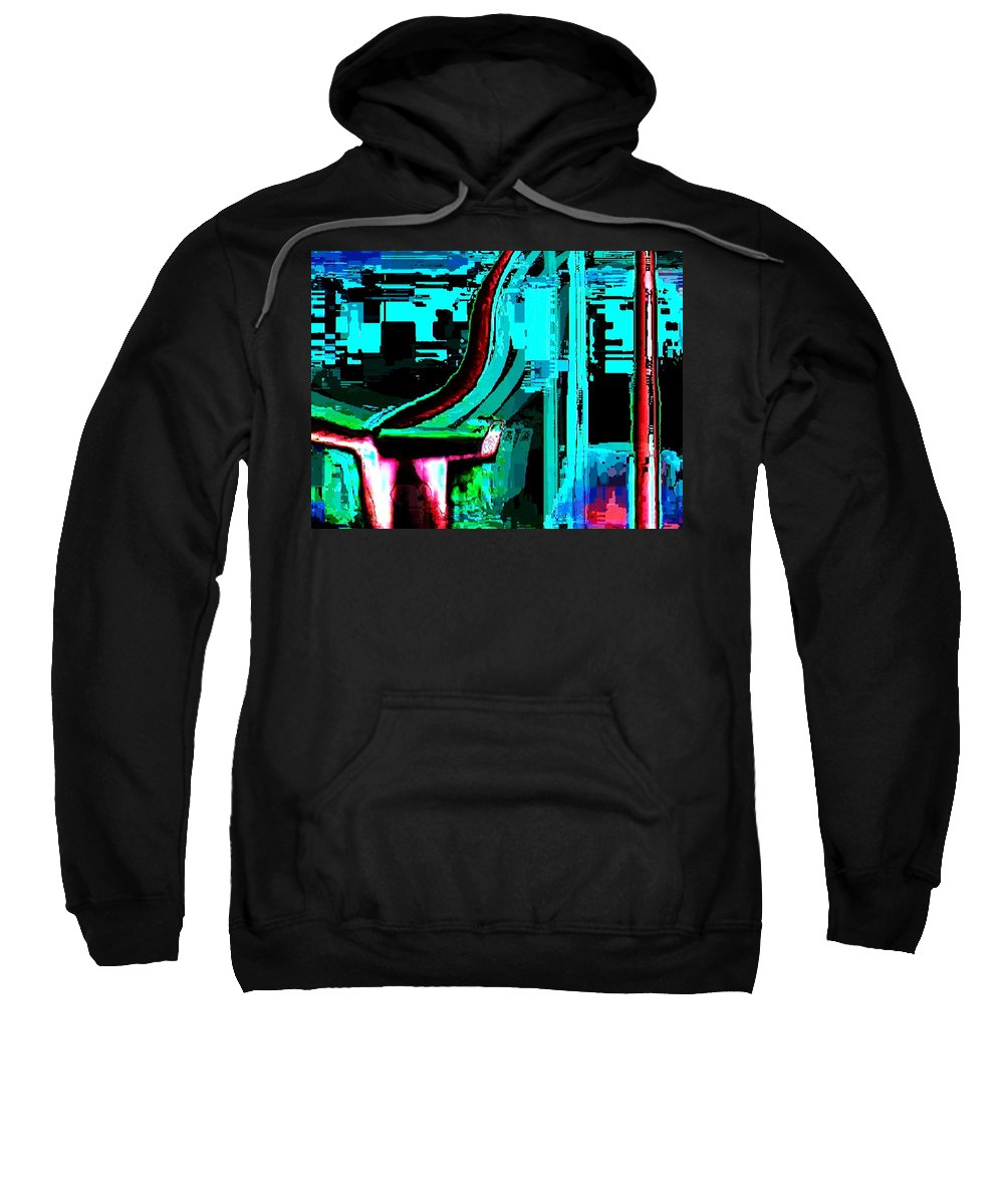 Art Digital Art Sweatshirt featuring the digital art Electricity by Alex Porter