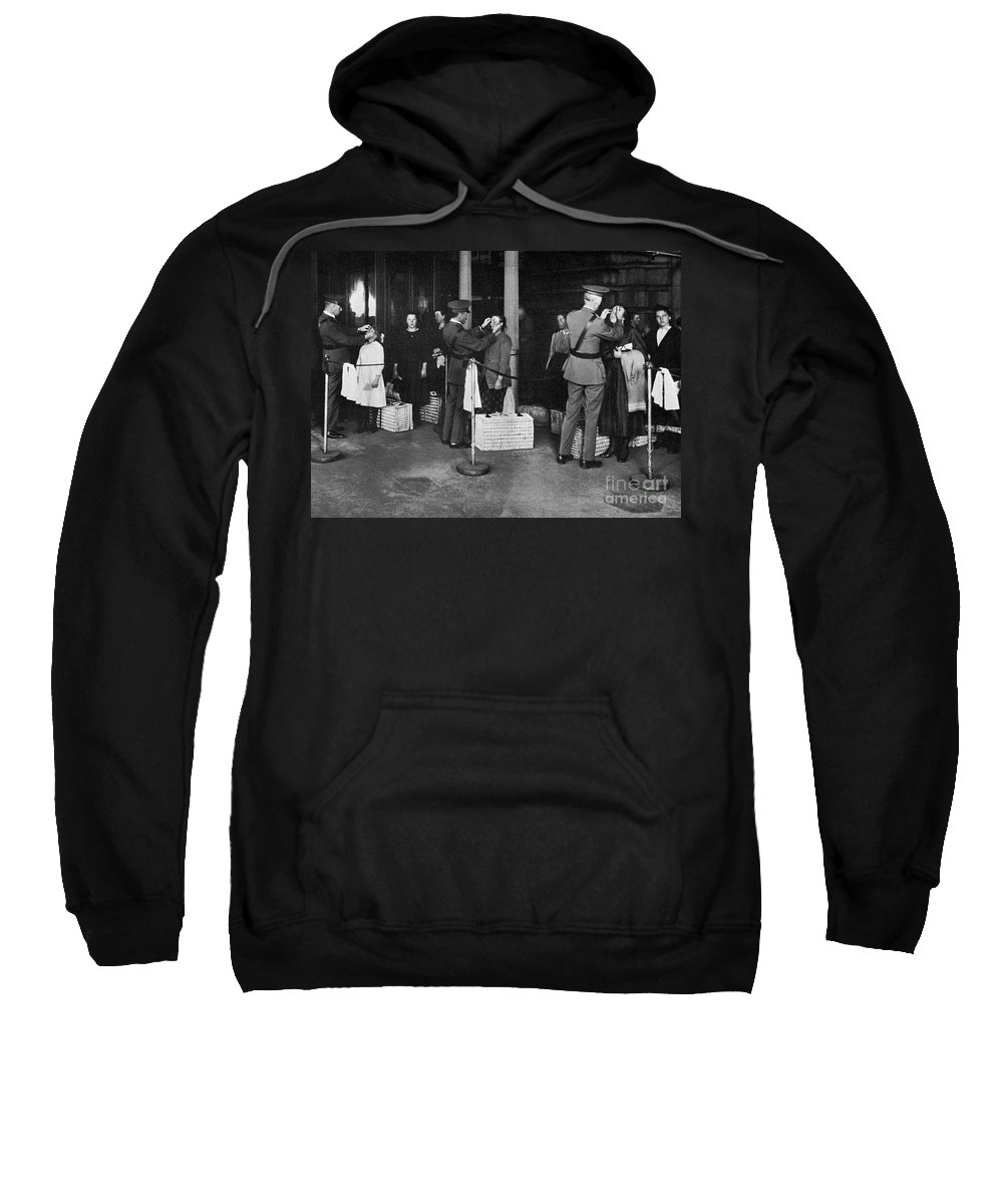 1910s Sweatshirt featuring the photograph Ellis Island: Examination by Granger