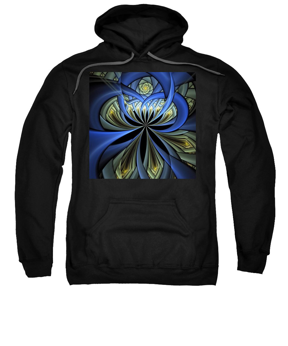Digital Art Sweatshirt featuring the digital art Embedded by Amanda Moore