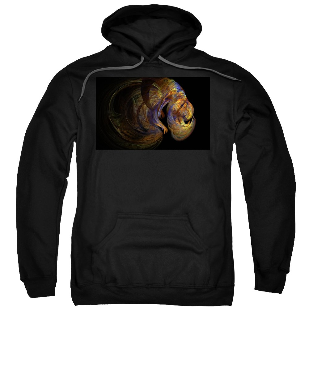 Abstract Digital Photo Sweatshirt featuring the digital art Embryonic by David Lane