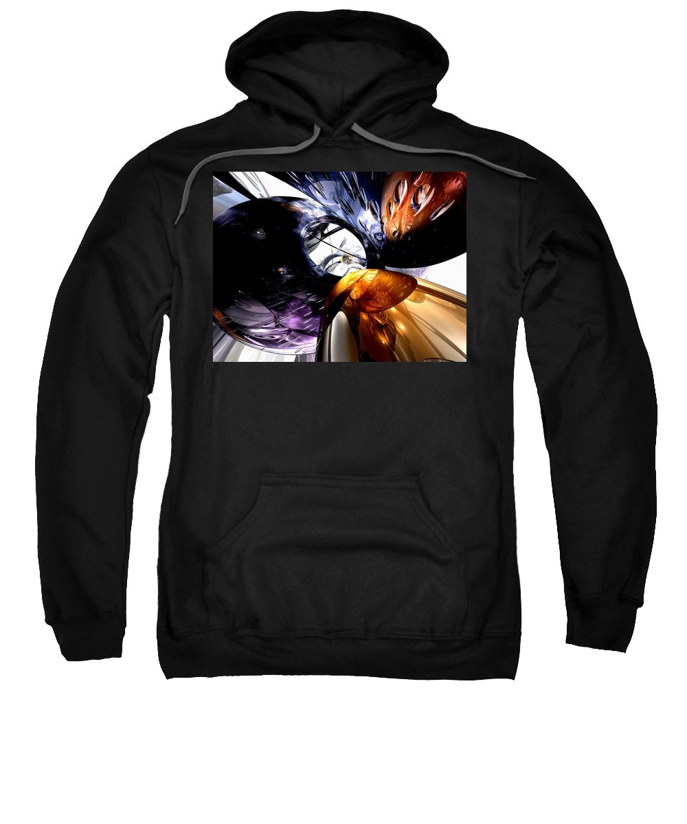 3d Sweatshirt featuring the digital art Emotional Scars Abstract by Alexander Butler