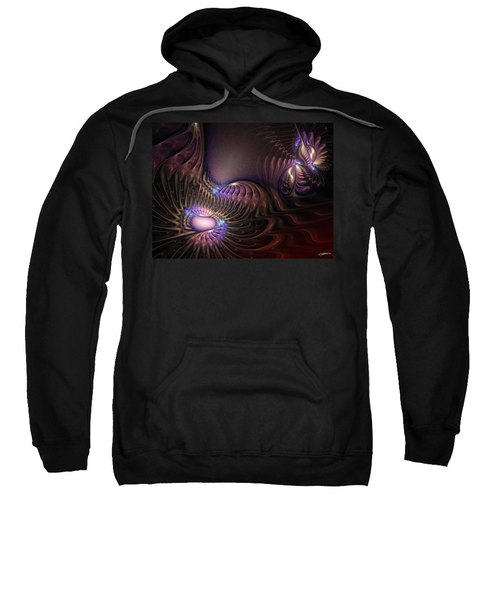 Abstract Sweatshirt featuring the digital art Empathy by Casey Kotas