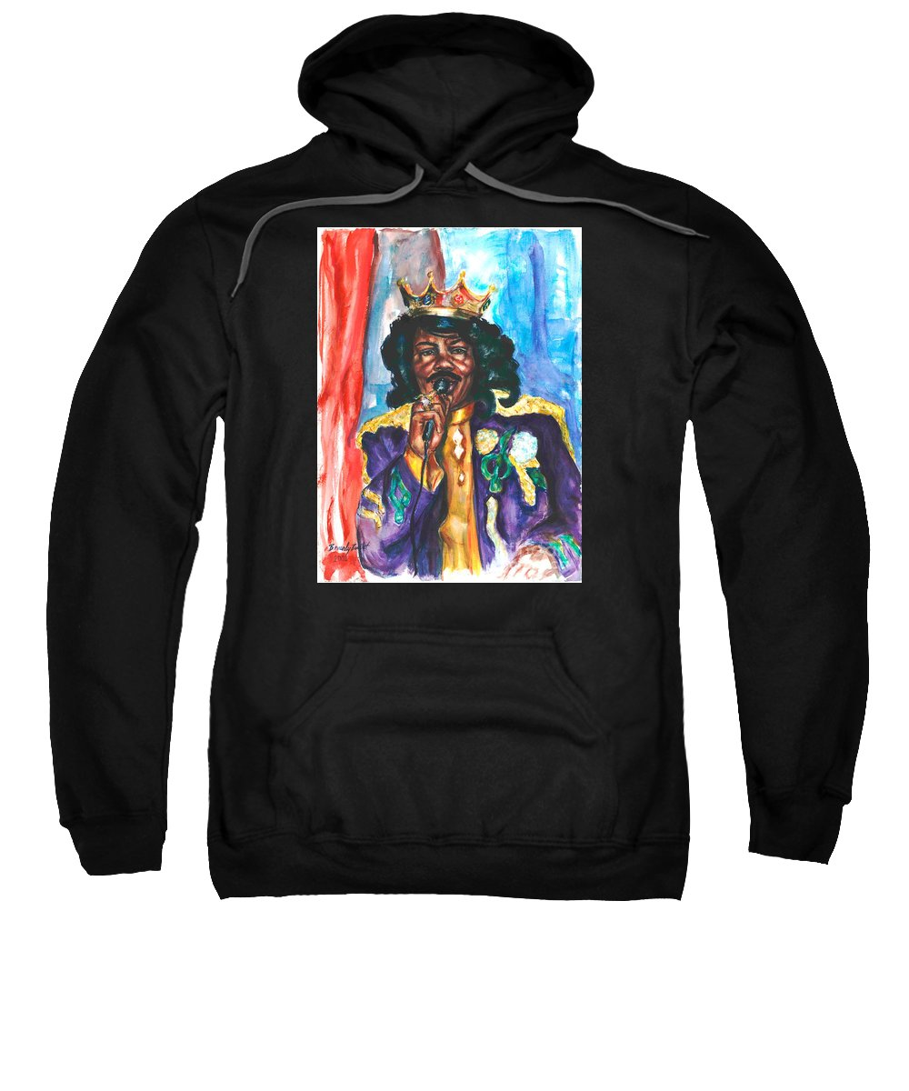 Ernie K Doe Sweatshirt featuring the painting Emperor Of The Universe by Beverly Boulet