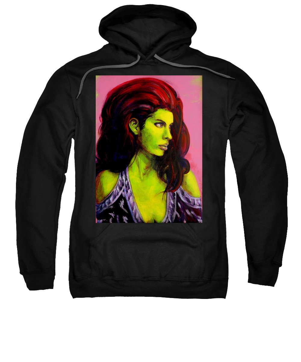 Girl Sweatshirt featuring the painting Empress At Rest by Jason Reinhardt