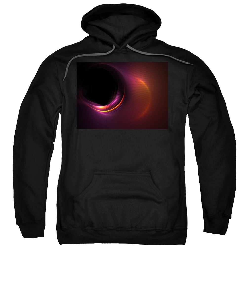 Fractal Sweatshirt featuring the digital art Empty Spaces by Lyle Hatch