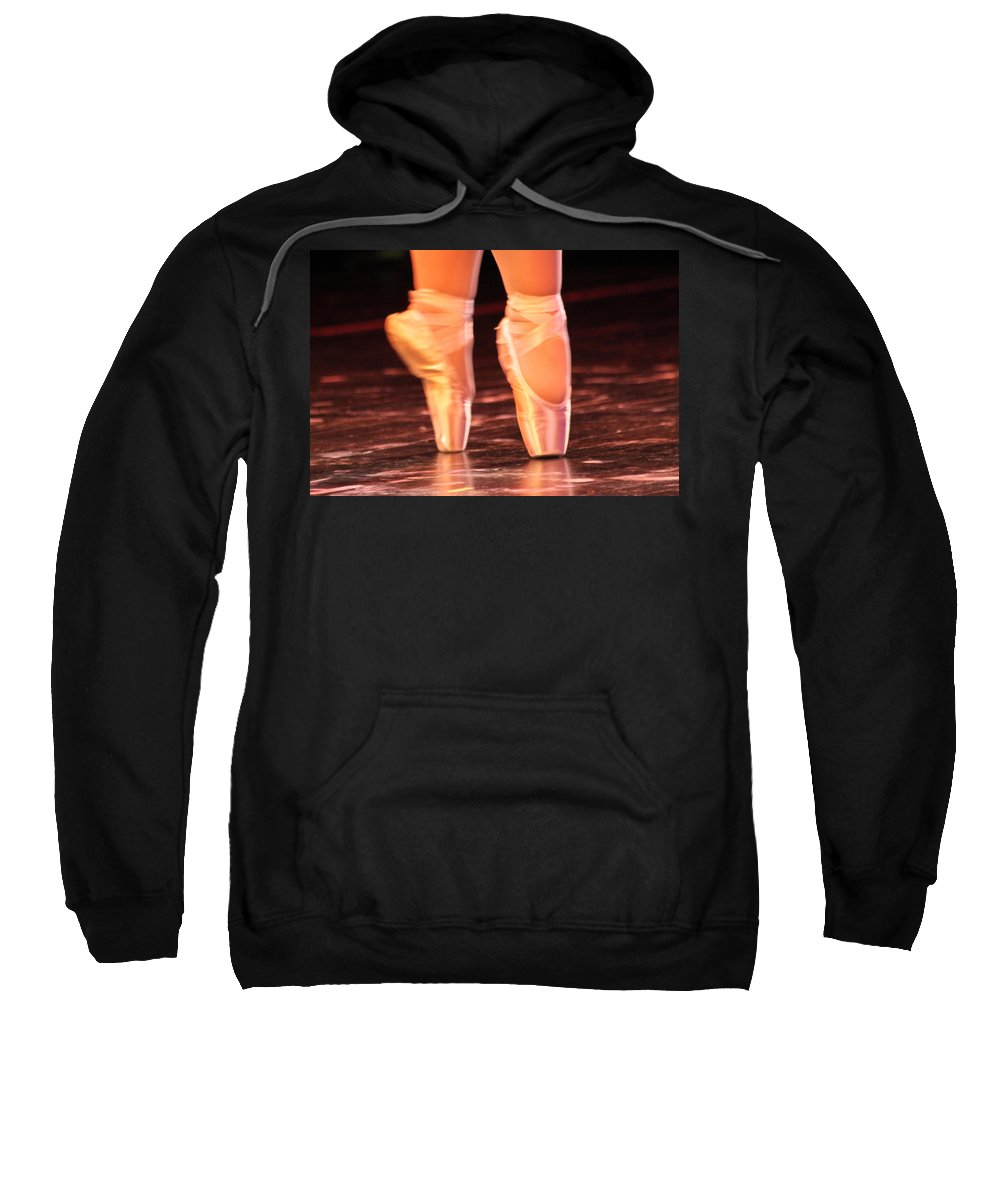 Ballet Sweatshirt featuring the photograph En Pointe by Lauri Novak