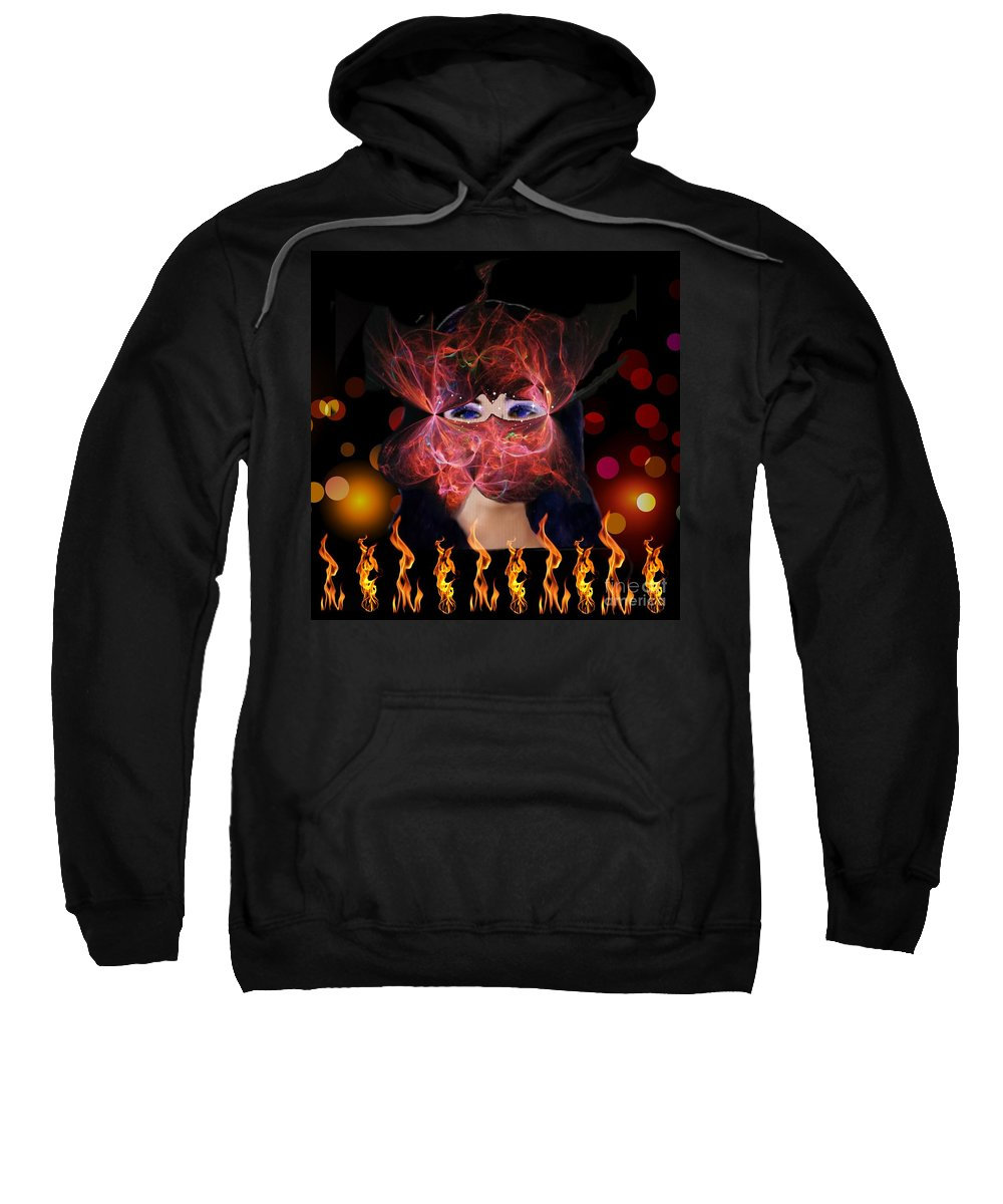 Fire Sweatshirt featuring the digital art Enchantment by Diamante Lavendar