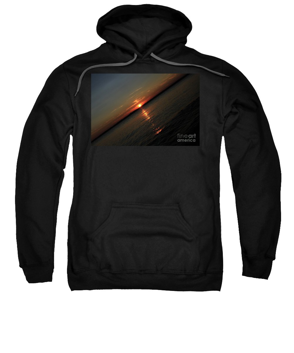 Beach Sweatshirt featuring the photograph End Of An Off Balance Day by Karol Livote