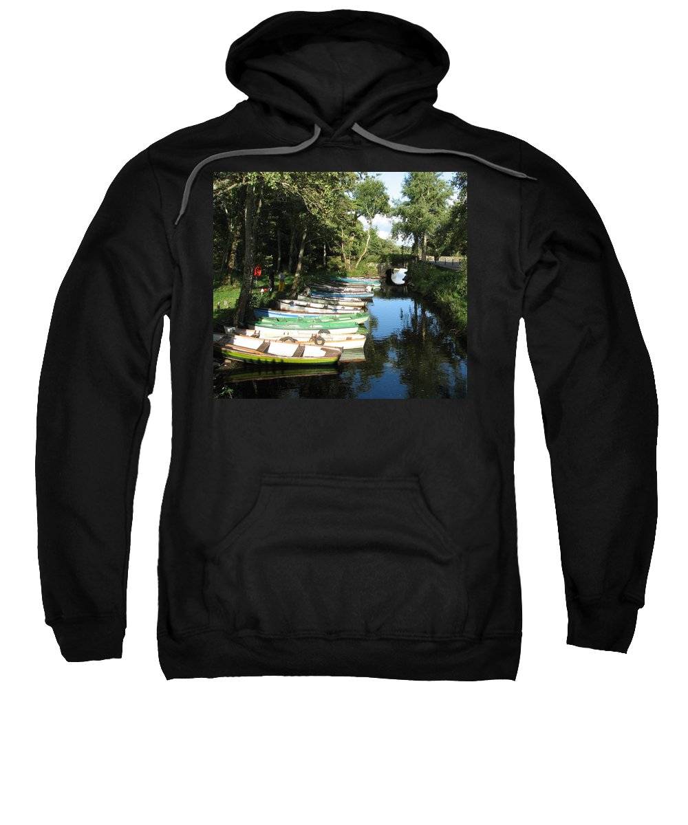 Boat Sweatshirt featuring the photograph End Of The Day by Kelly Mezzapelle
