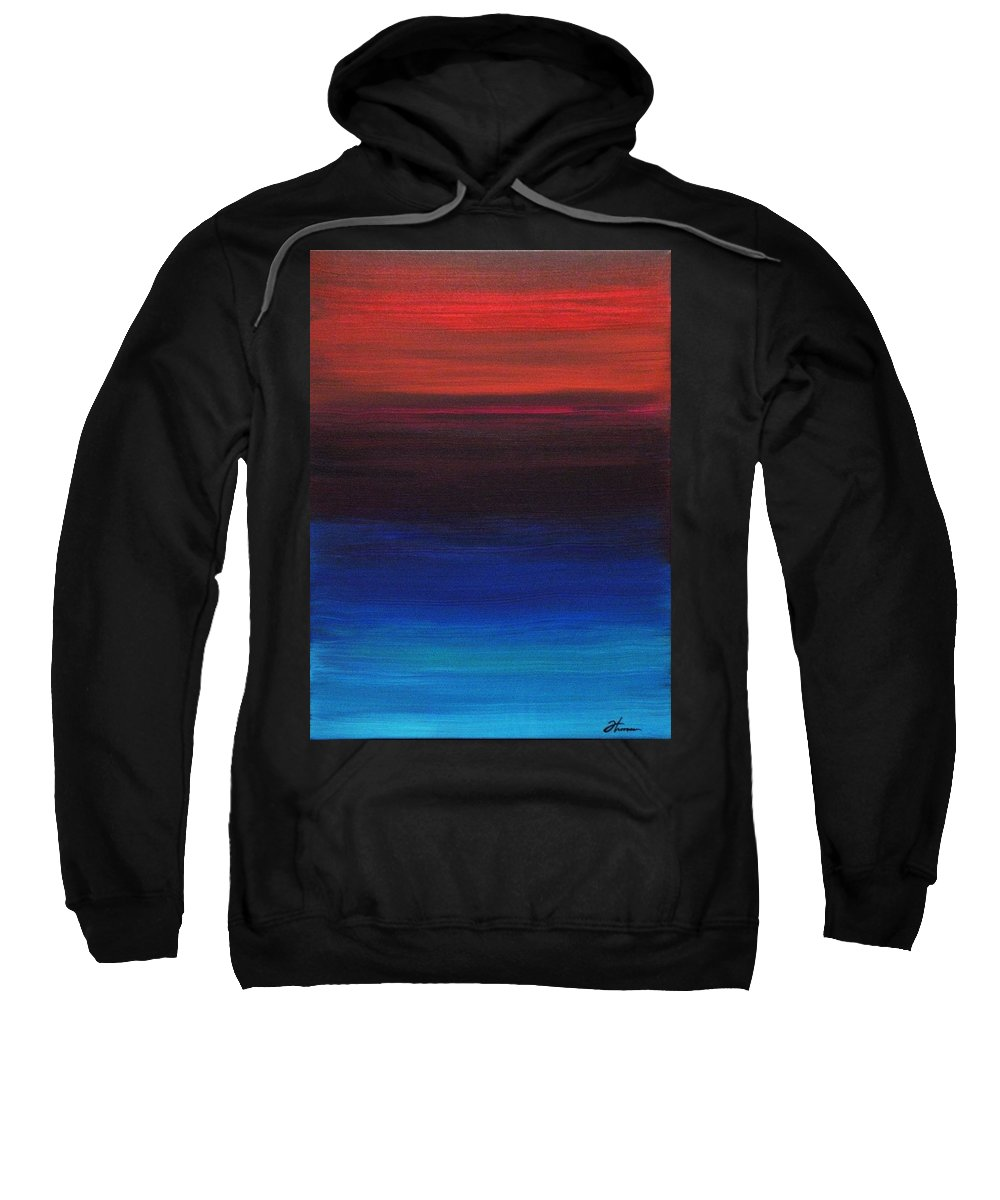 Original Sweatshirt featuring the painting Endless by Todd Hoover