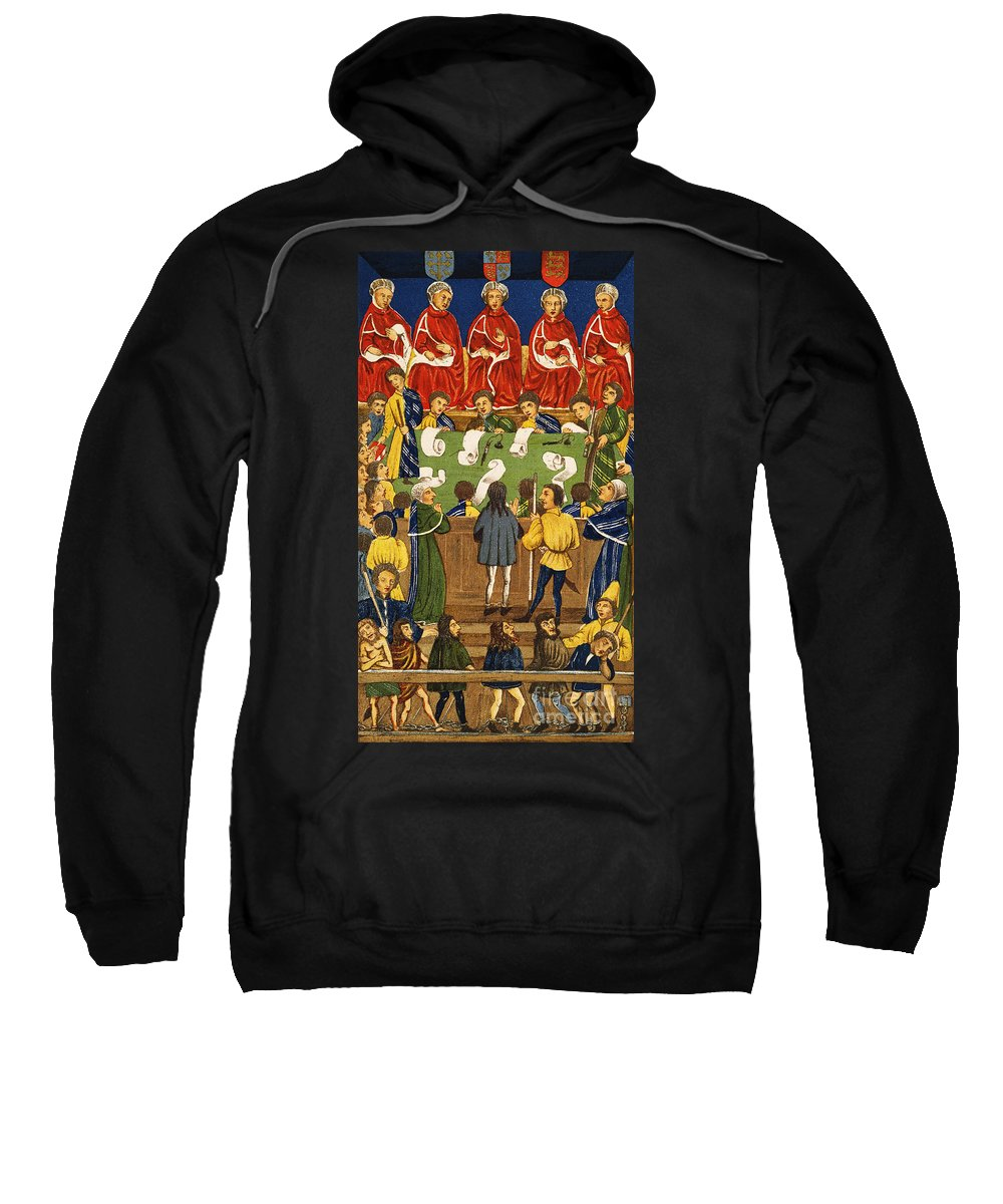 Sweatshirt featuring the painting England: Court, 15th Century by Granger