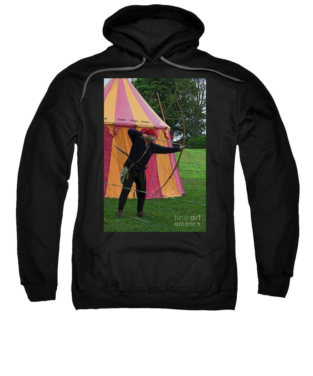 Longbowman Sweatshirt featuring the photograph English Bowman by Louise Heusinkveld