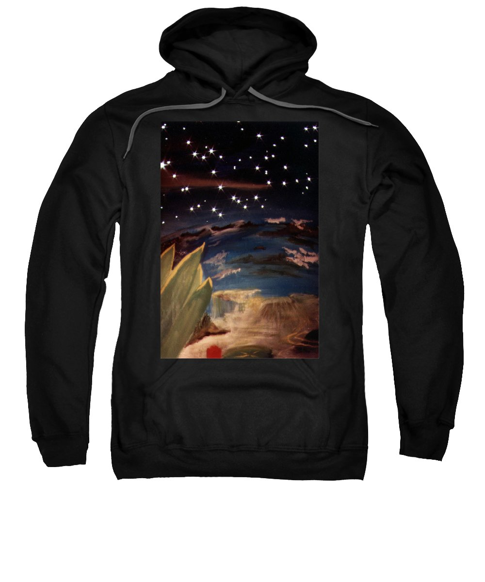 Surreal Sweatshirt featuring the painting Enter My Dream by Steve Karol