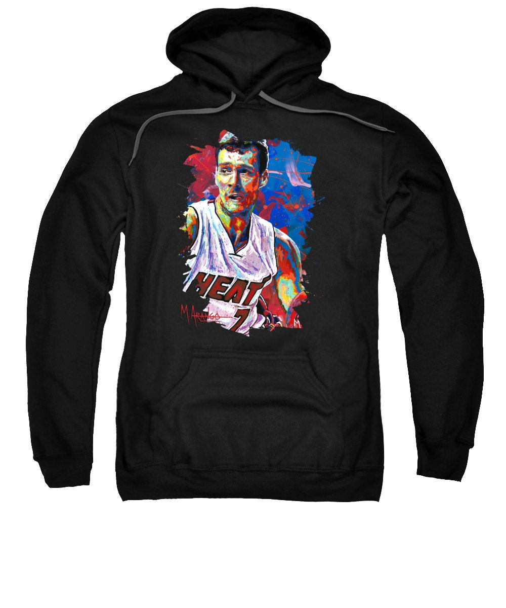 Goran Dragic Sweatshirt featuring the painting Enter The Dragon by Maria Arango