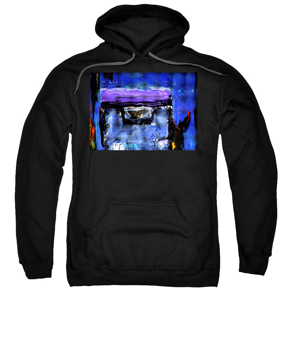 Abstract Sweatshirt featuring the painting Enter by Wayne Potrafka