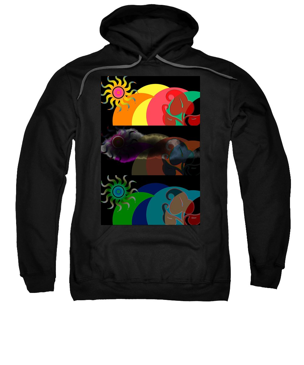 Sweatshirt featuring the digital art Environment by Clayton Bruster