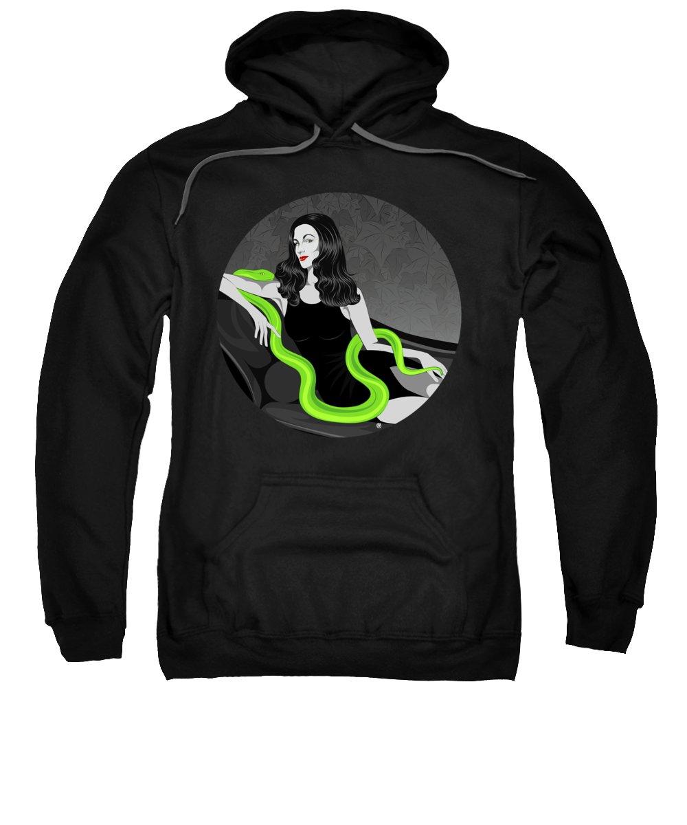 Deadly Sins Sweatshirt featuring the digital art Envy by Carolina Matthes