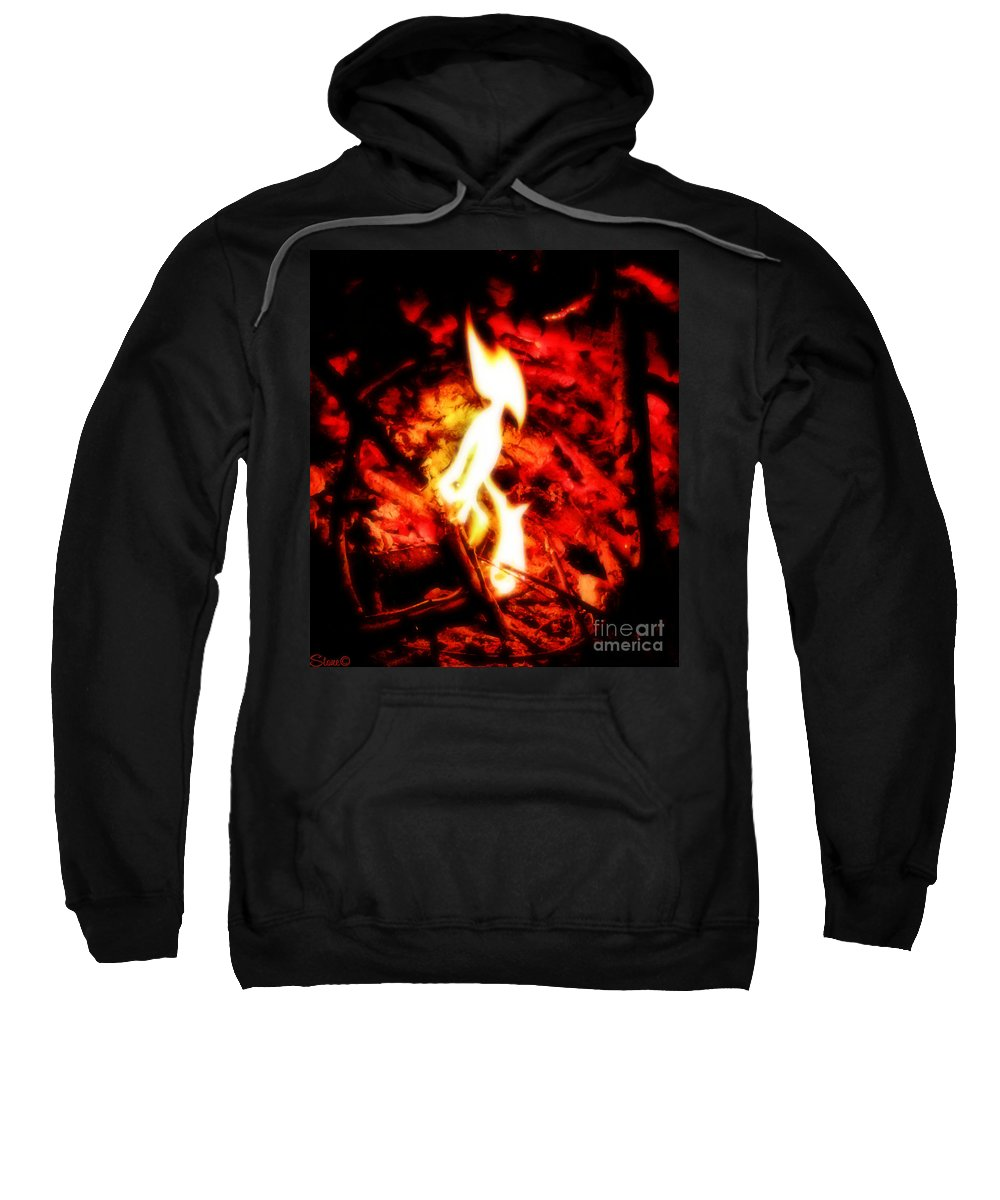 Fire Sweatshirt featuring the photograph Enya by September Stone