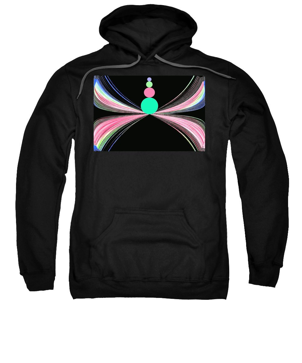 Abstract Sweatshirt featuring the digital art Equilibrium by Will Borden