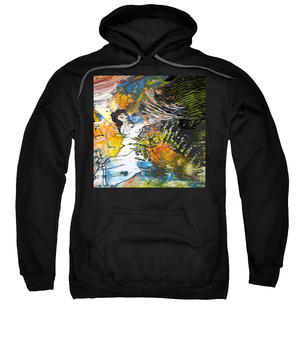 Miki Sweatshirt featuring the painting Erotype 07 2 by Miki De Goodaboom