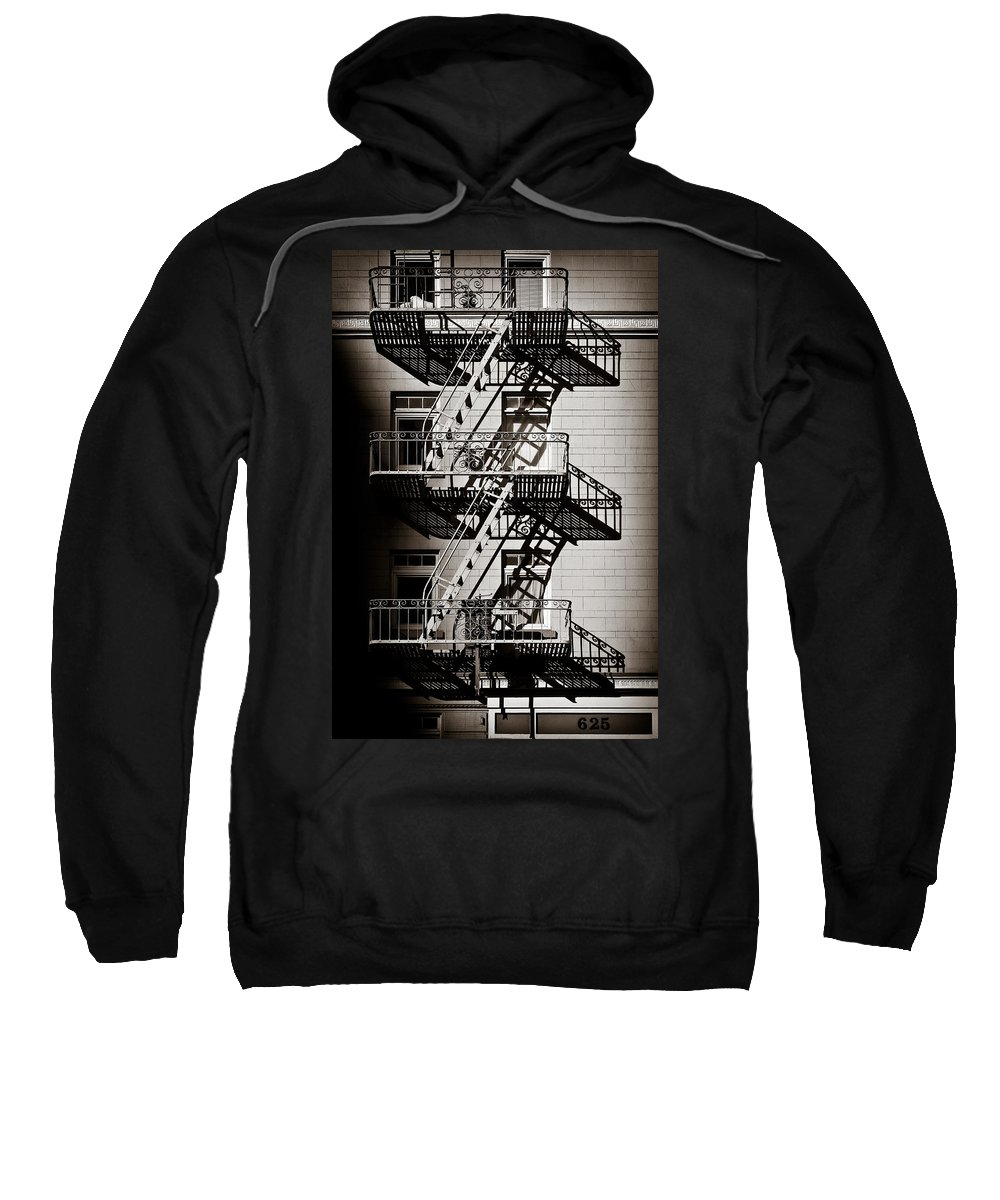 Fire Escape Sweatshirt featuring the photograph Escape by Dave Bowman