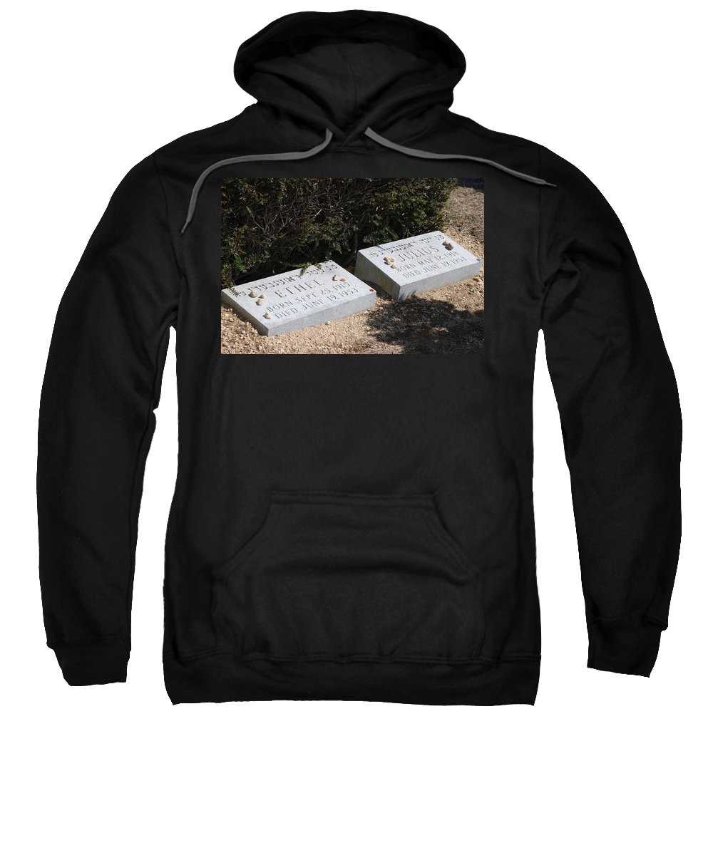 Cemetery Sweatshirt featuring the photograph Ethel And Julius Rosenberg The Spies by Rob Hans
