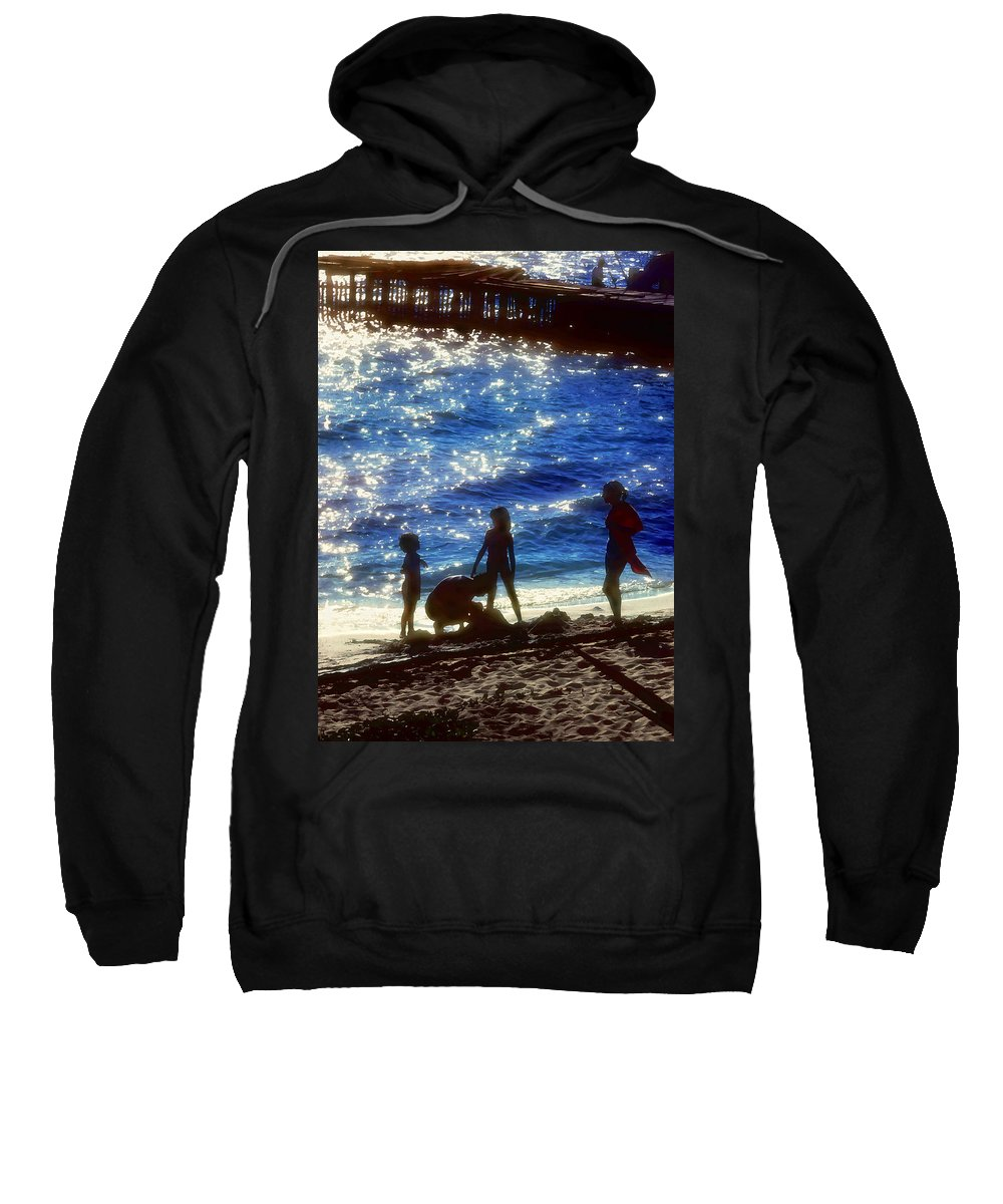 Beach Sweatshirt featuring the painting Evening At The Beach by Stephen Anderson