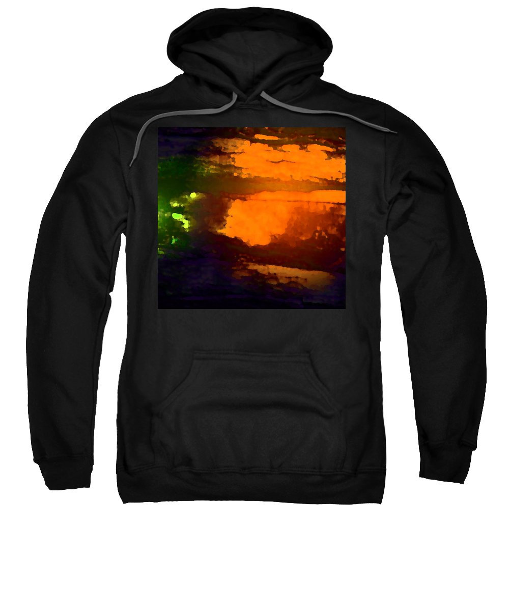 Abstract Sweatshirt featuring the photograph Evening Lake by Lenore Senior