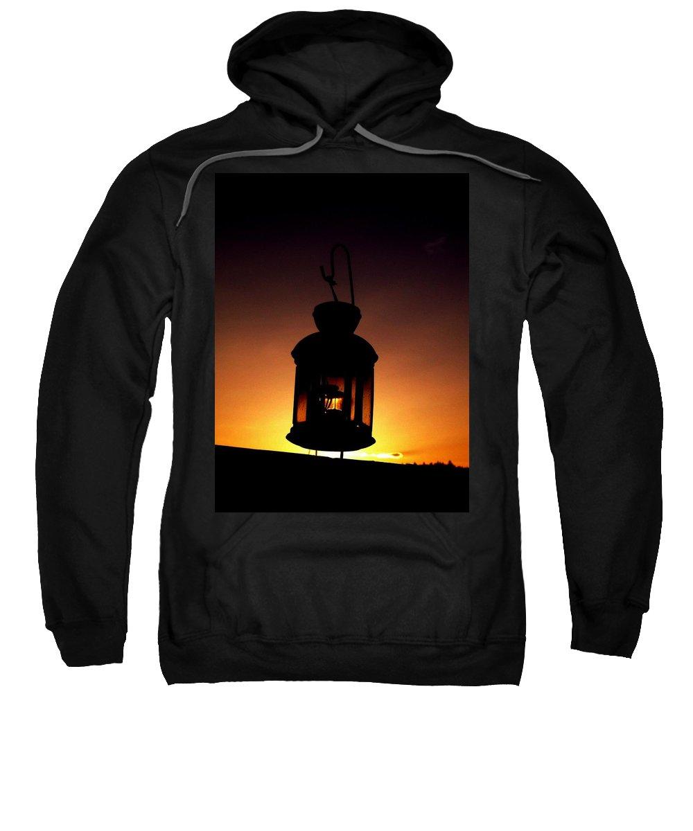Lantern Sweatshirt featuring the photograph Evening Lantern by Tim Allen