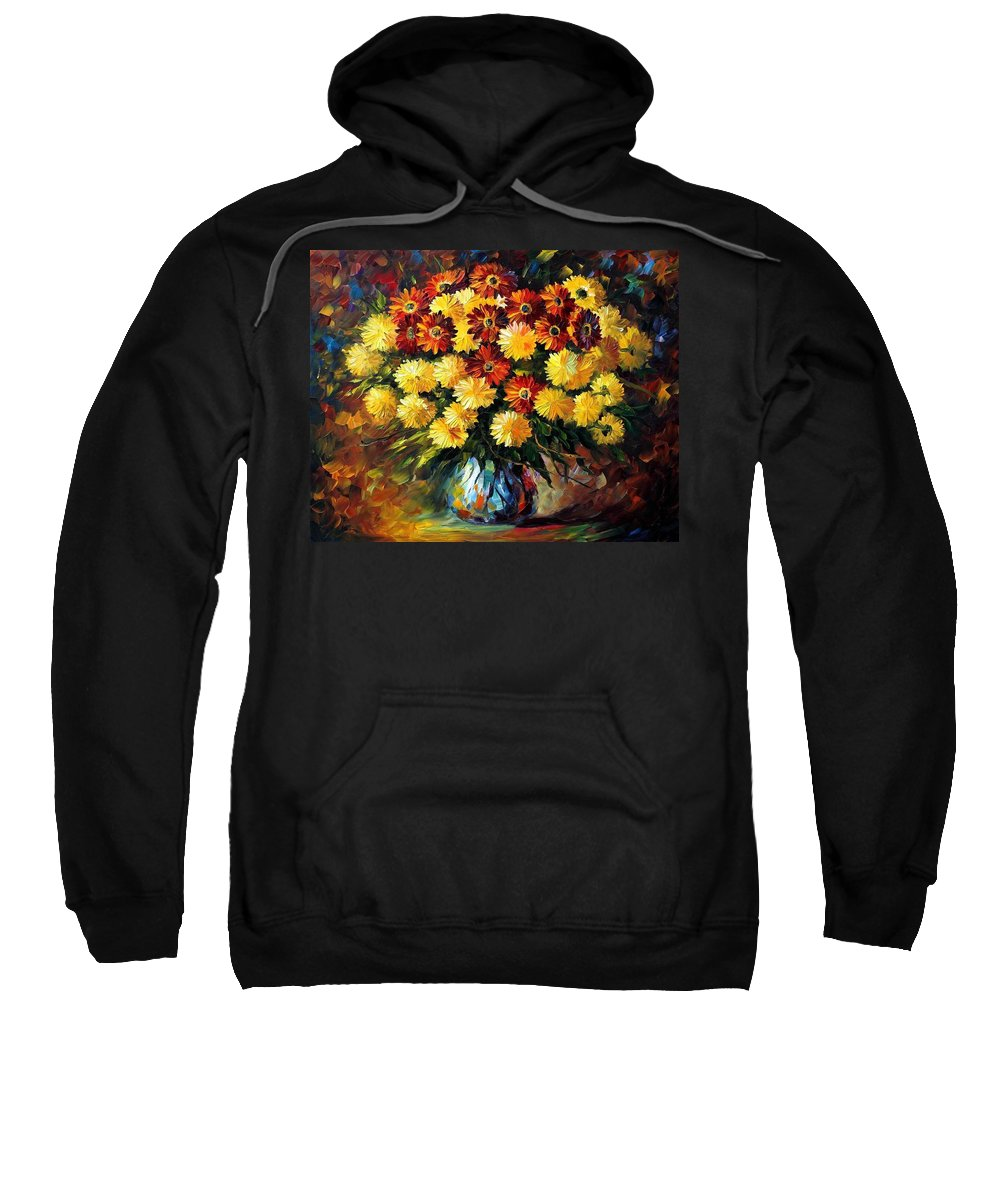 Afremov Sweatshirt featuring the painting Evening Mood by Leonid Afremov