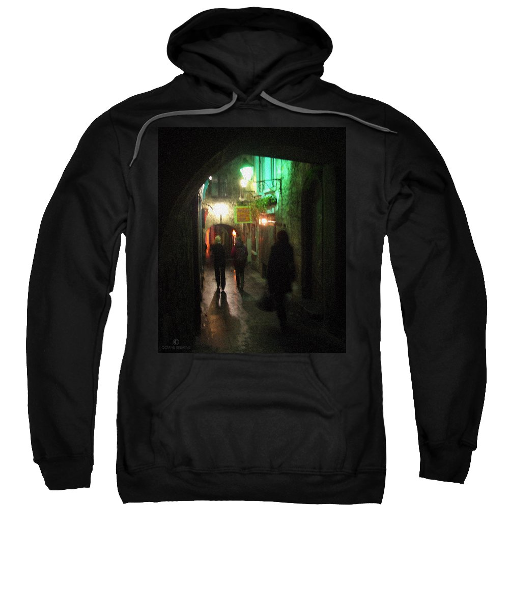 Ireland Sweatshirt featuring the photograph Evening Shoppers by Tim Nyberg