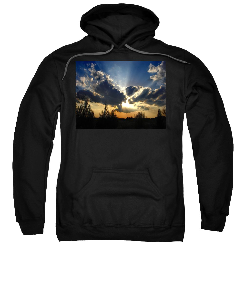 Landscape Sweatshirt featuring the photograph Evening Sky by Steve Karol